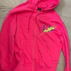 LF the brand oversized pink hoodie s small